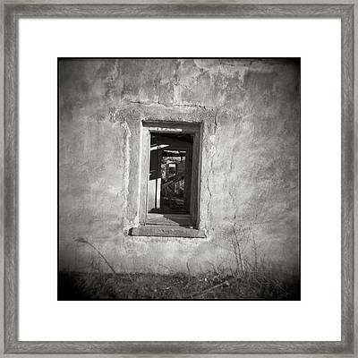 Marfa Texas Windows Framed Print