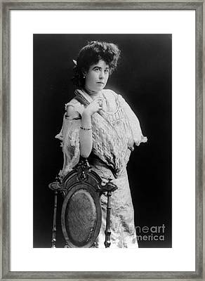 Margaret Molly Brown (1867-1932). The Unsinkable Molly Brown. American Socialite, Philanthropist, Activist, And Survivor Of The Titanic. Photographed C1900 Framed Print by Granger