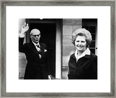 Margaret Thatcher Right Framed Print by Everett