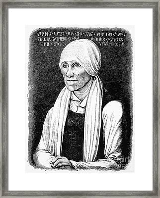 Margarethe Luther Framed Print by Granger
