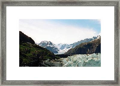 Framed Print featuring the photograph Margerie Glacier by C Sitton
