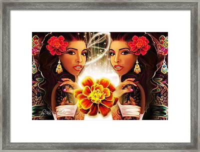 Mari Gold Framed Print by Kia Kelliebrew