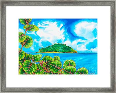 Maria Island - Saint Lucia Framed Print by Daniel Jean-Baptiste