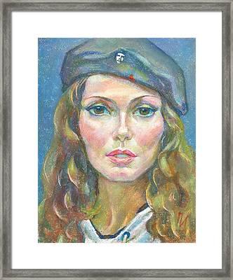 Maria Svyatskaya Framed Print by Leonid Petrushin