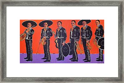 Mariachis Framed Print