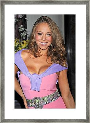 Mariah Carey At A Public Appearance Framed Print by Everett