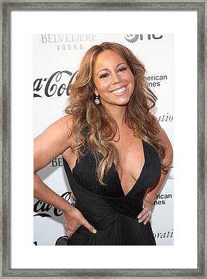 Mariah Carey At Arrivals For Apollo Framed Print by Everett