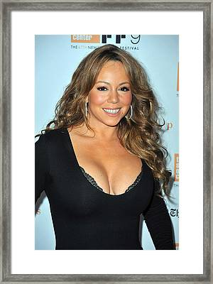 Mariah Carey At Arrivals For New York Framed Print by Everett