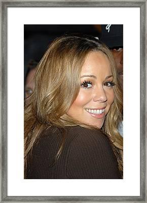 Mariah Carey At Talk Show Appearance Framed Print by Everett