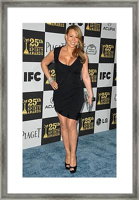 Mariah Carey In Attendance For 25th Framed Print by Everett
