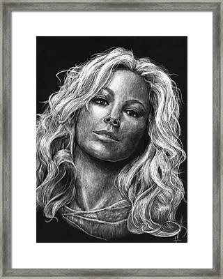 Mariah Carey Framed Print