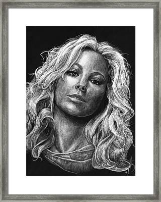 Mariah Carey Framed Print by Michael Trujillo