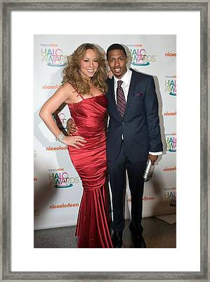 Mariah Carey, Nick Cannon At A Public Framed Print by Everett