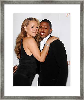 Mariah Carey, Nick Cannon At Arrivals Framed Print by Everett