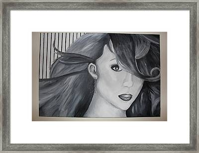 Mariah Carey Framed Print by Nicole Caruso