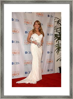 Mariah Carey Wearing A Ysa Makino Gown Framed Print by Everett