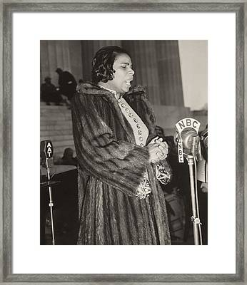 Marian Anderson 1897-1993, At A Nbc Framed Print by Everett