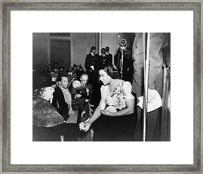 Marian Anderson 1897-1993, Shaking Framed Print