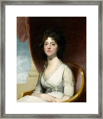 Marianne Ashley Walker Framed Print by Gilbert Stuart