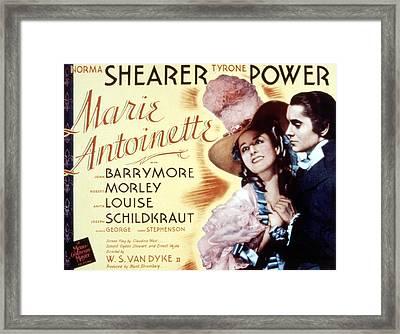 Marie Antoinette, Norma Shearer, Tyrone Framed Print