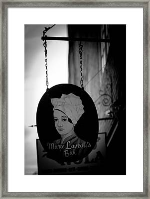 Marie Laveau's Bar Framed Print by Shelly Stallings