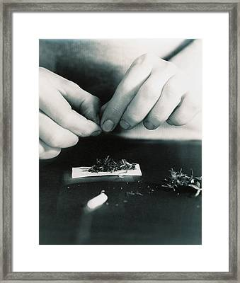 Marijuana Cigarette Framed Print by Cristina Pedrazzini