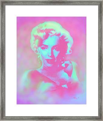 Marilyn By Reb Framed Print