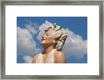 Marilyn In The Clouds Framed Print by Matthew Bamberg