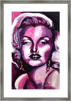 Marilyn Monroe Framed Print by Hannah Chusid