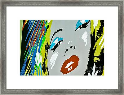 Marilyn Monroe Framed Print by Micah May
