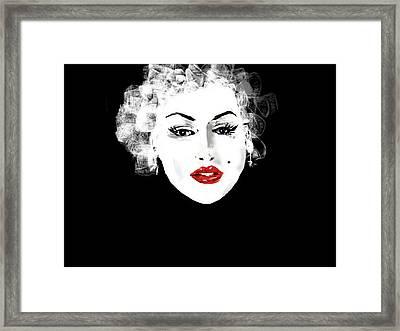 Framed Print featuring the digital art Marilyn Monroe by Rc Rcd