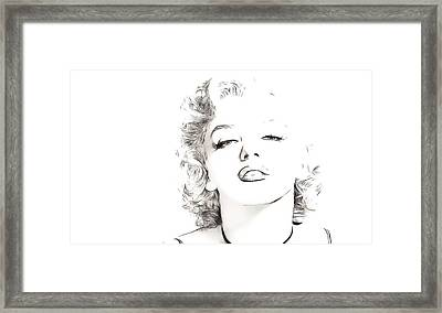 Marilyn Monroe Framed Print by Tilly Williams