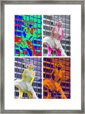 Marilyn On Michigan Avenue Framed Print by David Bearden