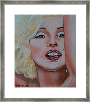 Marilyn Framed Print by Reneza Waddell