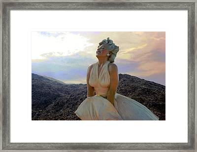 Marilyn's Euphoria Framed Print