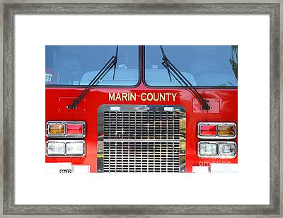 Marin County Fire Department Fire Engine . Point Reyes California . 7d15922 Framed Print by Wingsdomain Art and Photography