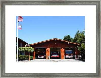 Marin County Fire Department . Point Reyes California . 7d15919 Framed Print by Wingsdomain Art and Photography