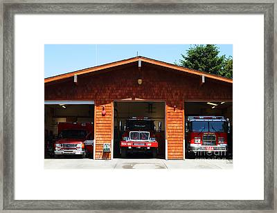 Marin County Fire Department . Point Reyes California . 7d15920 Framed Print by Wingsdomain Art and Photography