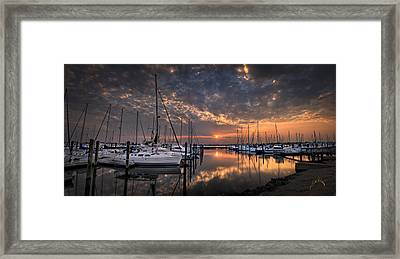 Marina At Fort Monroe Framed Print
