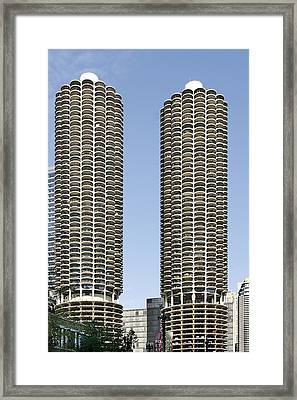 Marina City Chicago - Life In A Corn Cob Framed Print by Christine Till