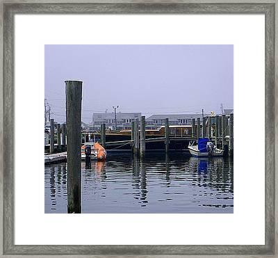 Framed Print featuring the photograph Watch Hill Marina by Joan Hartenstein
