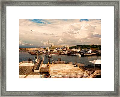 Marina Of Rhode Island Framed Print by Lourry Legarde