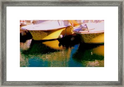 Marina Rainbow Framed Print by Karen Wiles