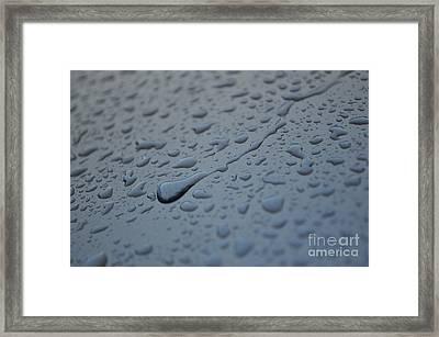 Marine Blue Pearl Metallic Framed Print by Luke Moore