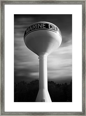 Marine City Michigan Water Tower - Long Exposure Photograph Framed Print by Gordon Dean II