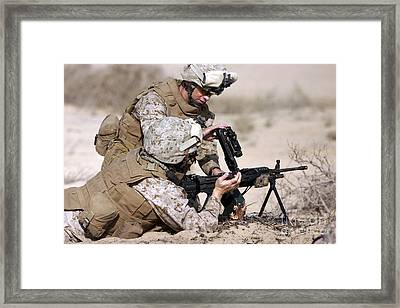Marine Gives Instructions On How Framed Print