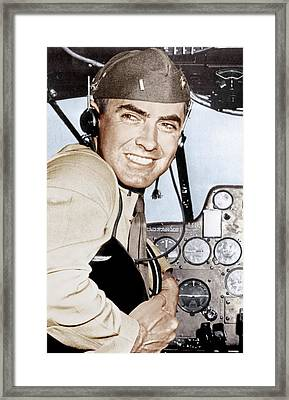 Marine Lieutenant Tyrone Power Framed Print by Everett
