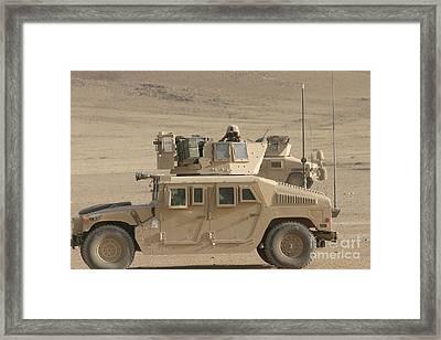 Marine Looks For Suspicious Activity Framed Print