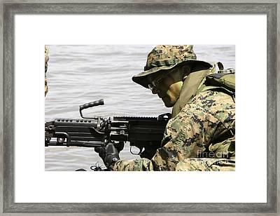 Marine Provides Front Security Framed Print