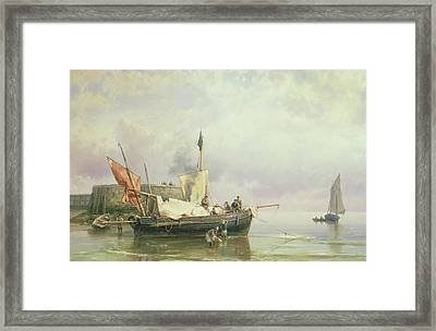 Marine Scene  Framed Print by Hermanus Koekkoek